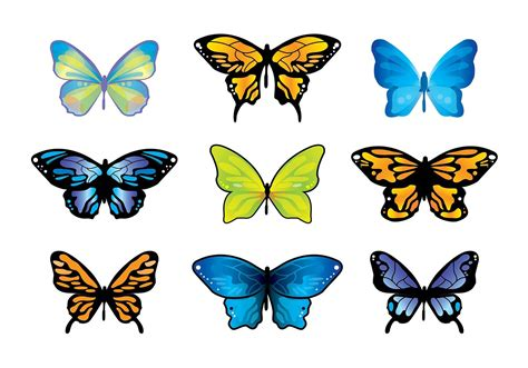 Mariposa Butterfly Vector Set - Download Free Vector Art ...