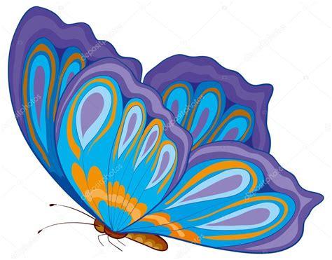 mariposa de dibujos animados — Vector de stock © Kopirin ...