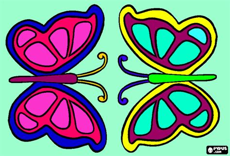 mariposas color para colorear, mariposas color para imprimir