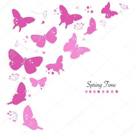Mariposas color rosa diseño abstracto flores primavera ...