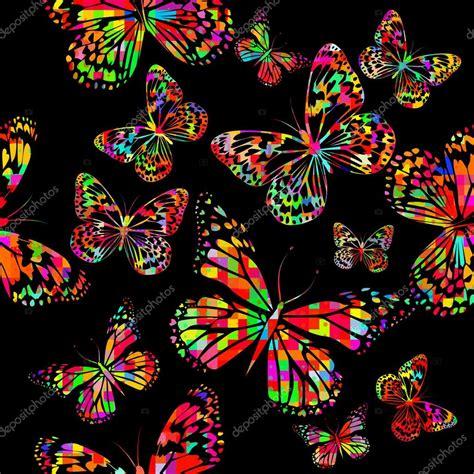 Mariposas colores acuarelas — Archivo Imágenes Vectoriales ...