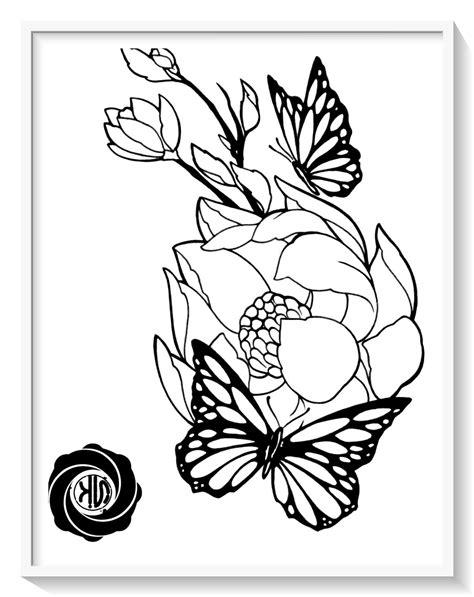 mariposas para colorear en la computadora - Dibujo imagenes