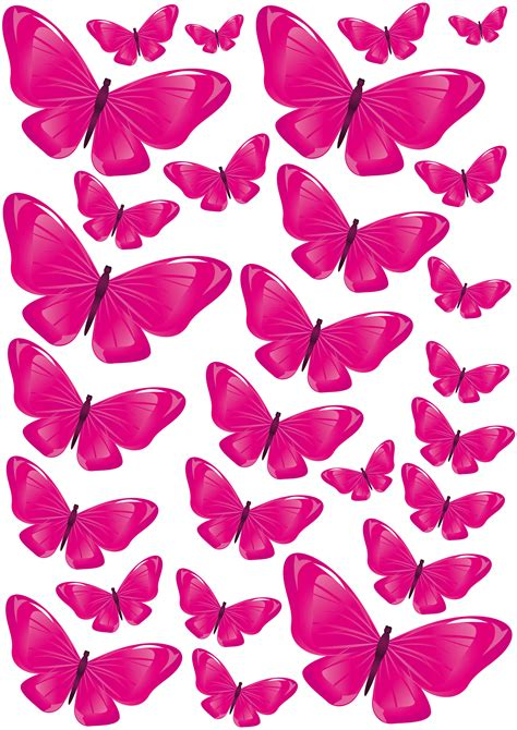 Mariposas para decorar la pared con forma de corazón