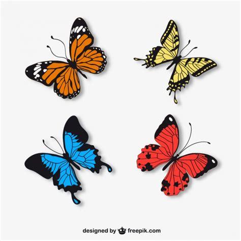 Mariposas realistas | Descargar Vectores gratis