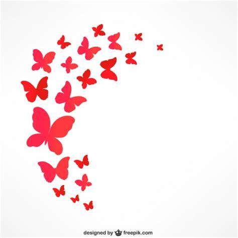 Mariposas rojas que vuelan | Descargar Vectores gratis