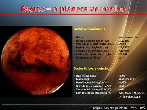 Marte, o planeta vermelho