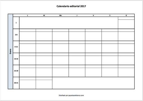 Más de 20 ideas increíbles sobre Calendario en blanco en ...