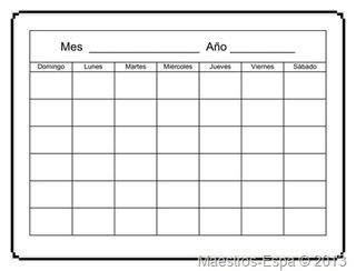 Más de 25 ideas fantásticas sobre Calendario En Blanco en ...