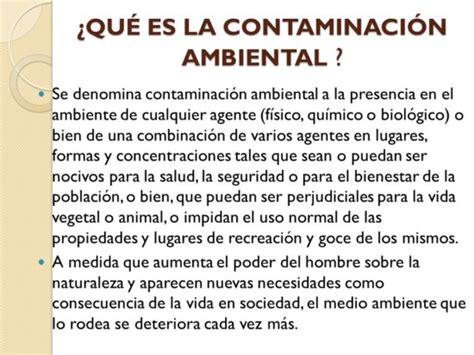 Más información sobre la Contaminación Ambiental | Información