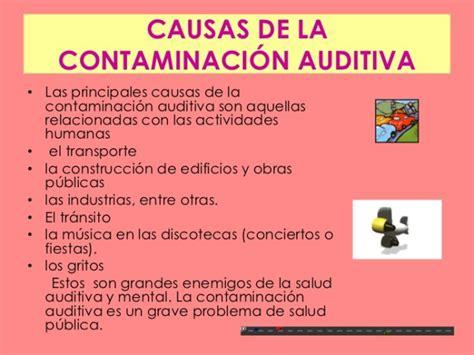 Más información sobre la Contaminación Sonora ...