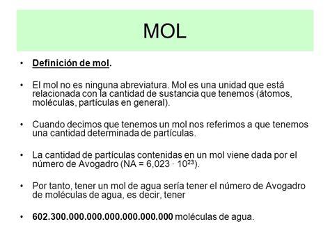 Masa atómica. Masa molecular Número de Avogadro MOL - ppt ...