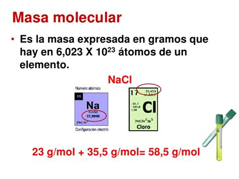 Masa atómica y molecular – reactivo limite y