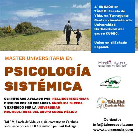 Master psicología sistemica tarragona