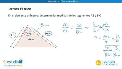 Matemática   Ejercicios Teorema de Tales   YouTube