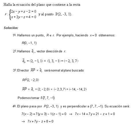 Matemáticas 2º Bachillerato: Examen Geometría (Soluciones)