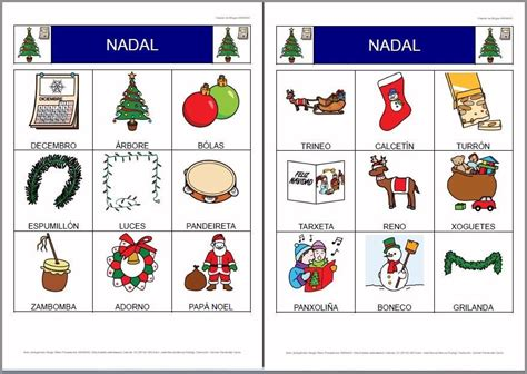 MATERIALES - Bingos sobre la Navidad (Traducción al ...