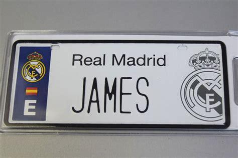 Matrículas con el nombre de James en el Bernabéu | Defensa ...