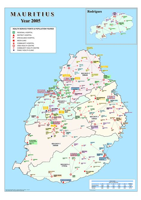 Mauritius Hospitals and Clinics Map - Mauritius Attractions