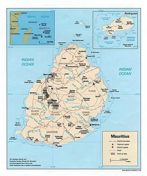 Mauritius Island Map - Mauritius • mappery