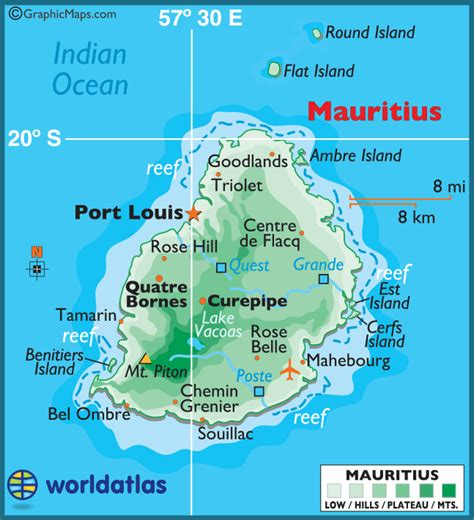 Mauritius Large Color Map
