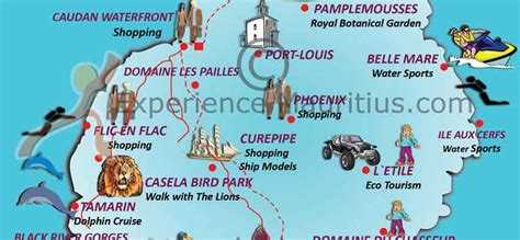 Mauritius Map Attractions