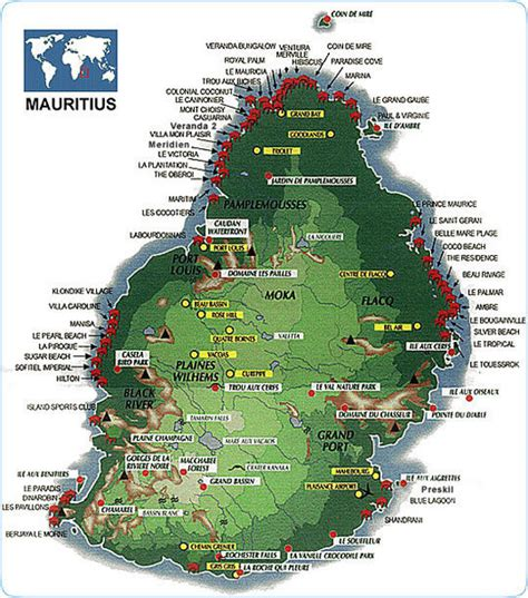 Mauritius tourist Map • mappery