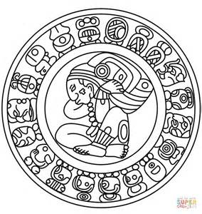 Mayan Calendar coloring page | Free Printable Coloring Pages