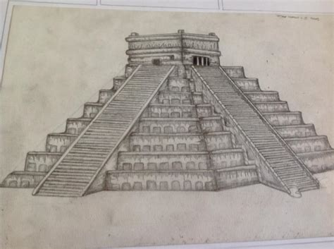 Mayan Temple Drawing by Scapton on DeviantArt