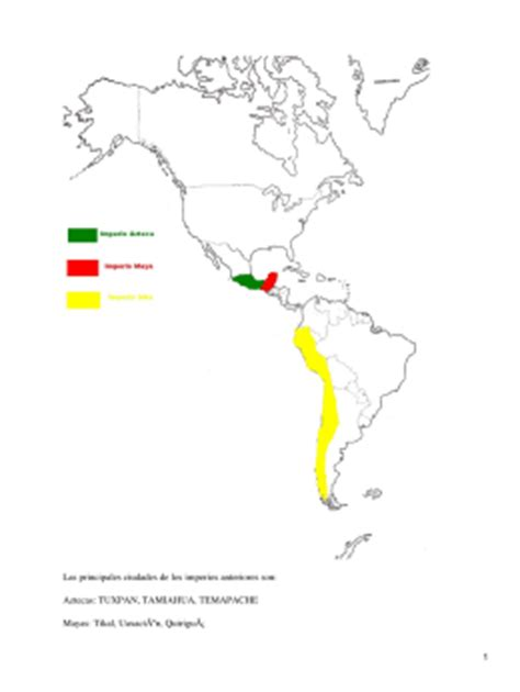 Mayas, aztecas, incas