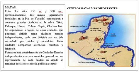 MAYAS (Resumen, mapa y actividad) - Ciencias Sociales ...