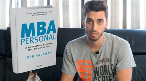 MBA personal   Resumen y comentario   JoB