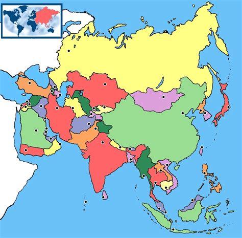 Me gustan las Sociales: Asia. Mapa Político