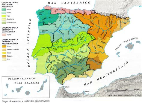 Me gustan las Sociales: España. Mapa físico II. Ríos y costas.