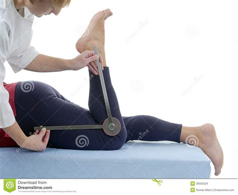 Measurement Of Knee Joint Flexion Stock Images - Image ...