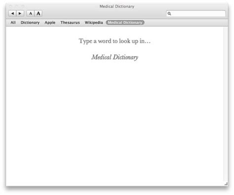 Medical Dictionary for OSX
