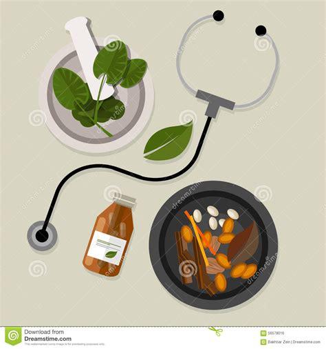 Medicina Alternativa Natural Tradicional Ilustración del ...