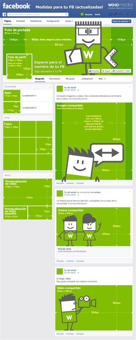 Medidas de imágenes en Facebook #infografía