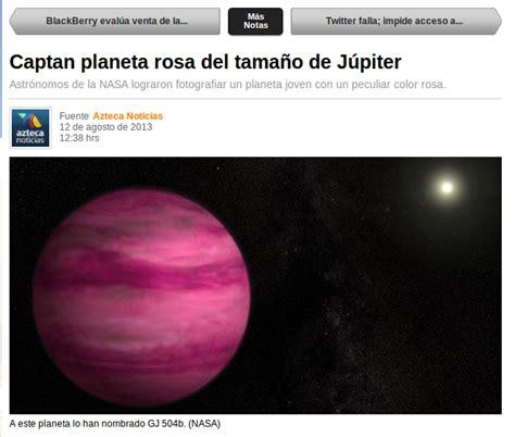 Medidas para medir sin medida: Captan planeta rosa del ...