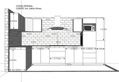 Medidas Para Muebles De Cocina Integral # azarak.com ...