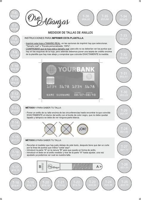 Medidor de tallas de anilos. Descarga nuestro PDF.