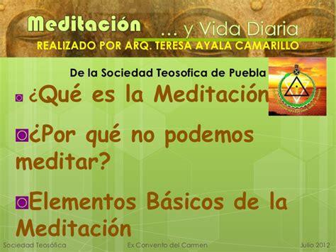 MEDITACION Y VIDA DIARIA