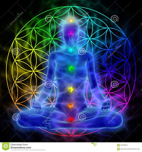 Meditation   Flower Of Life Stock Illustration   Image ...