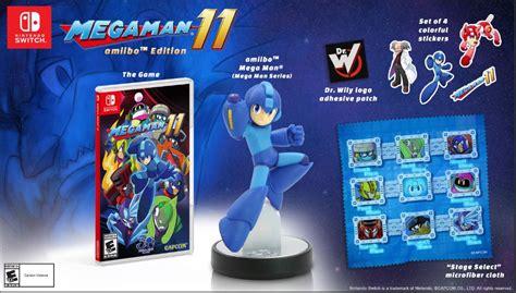 Mega Man 11 amiibo Edition - Only at GameStop for Nintendo ...