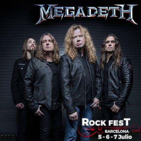 Megadeth se suman al cartel de Rock Fest BCN 2018   DiabloRock