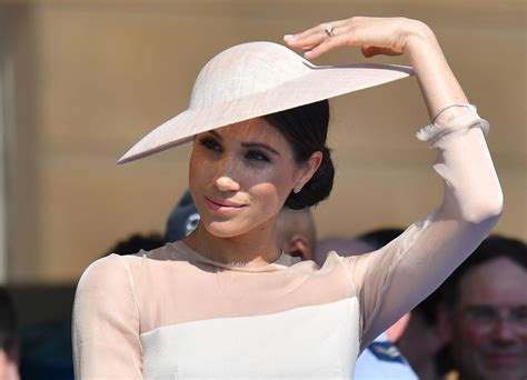 Meghan Duchess of Sussex at a Garden Party at Buckingham ...
