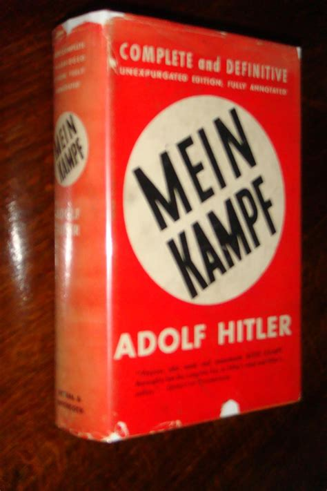 Mein Kampf by Hitler, Adolf: Reynal & Hitchcock, New York ...