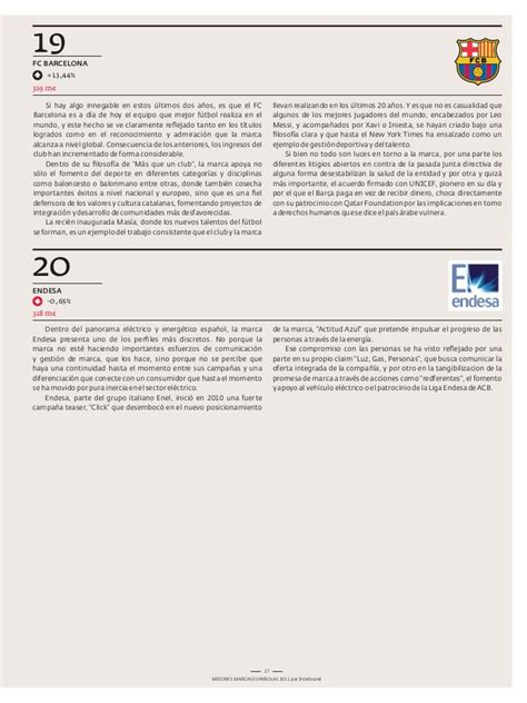 Mejores marcas bsb 2011 one page