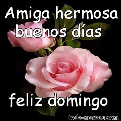 Meme de Amiga hermosa buenos días feliz domingo