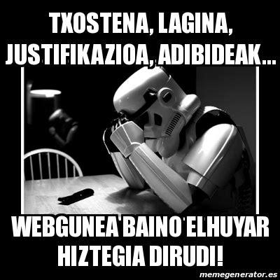 Meme Sad Trooper - txostena, lagina, justifikazioa ...