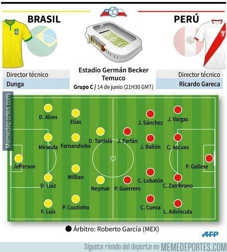 [ MEMEDEPORTES ] ¡Alineaciones confirmadas para Perú vs ...